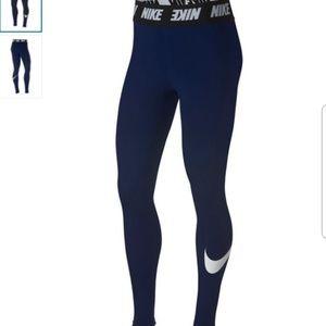 NWT Nike High Waist Graphic Logo Leggings Tights M